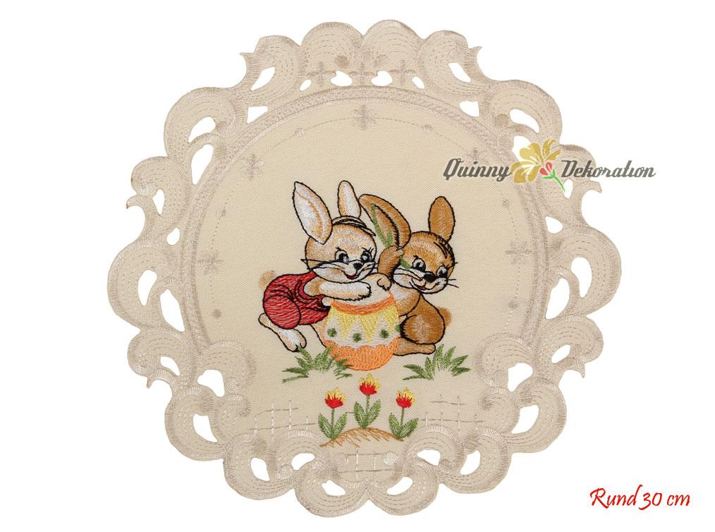 P ques lapin fleur tulip broderie chemin de table nappe - Chemin de table pour paques ...