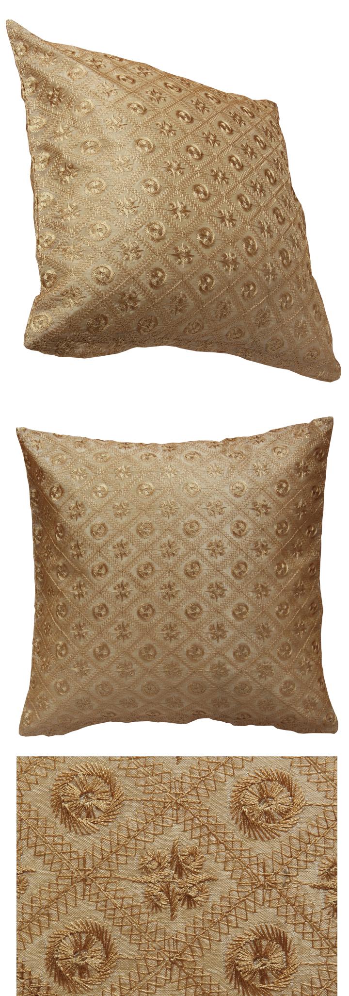 kissenh lle 40x40 cm beige braun satin optik kissenbezug. Black Bedroom Furniture Sets. Home Design Ideas