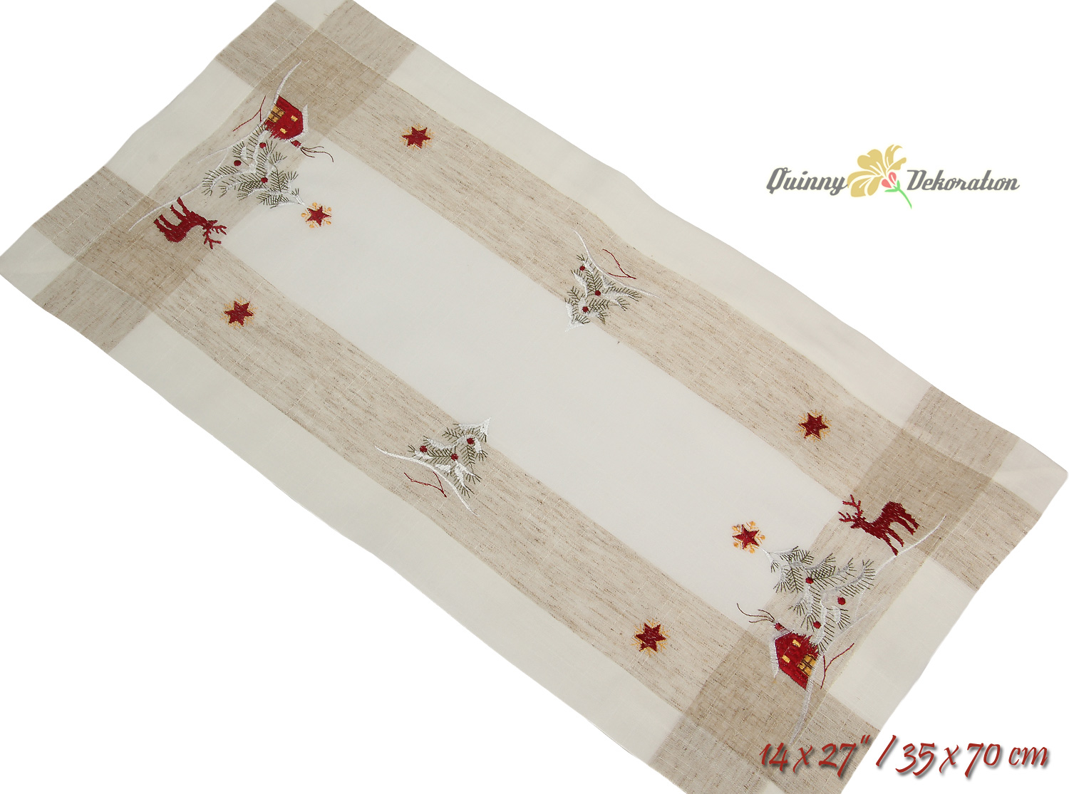 Christmas table runners placemats tablecloths red reindeer for 85 inch table runner