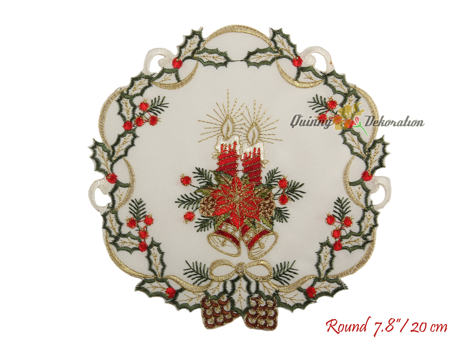 Embroidered Christmas Tablecloths Table Runners Doily